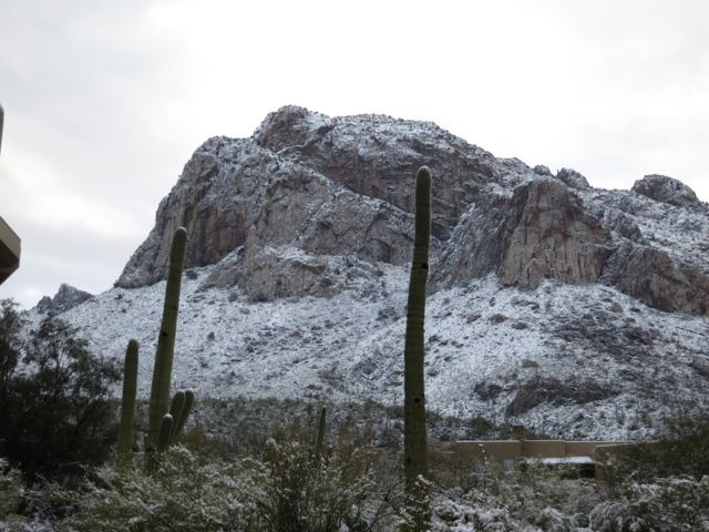 Pusch Ridge with snow