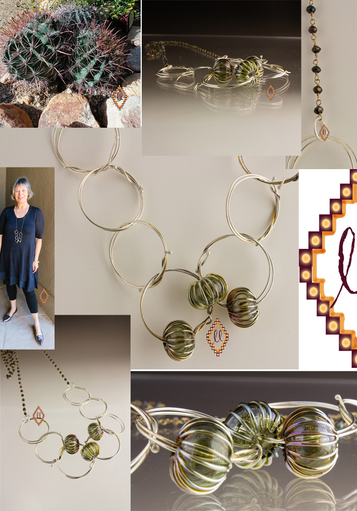 collage of a new necklace design